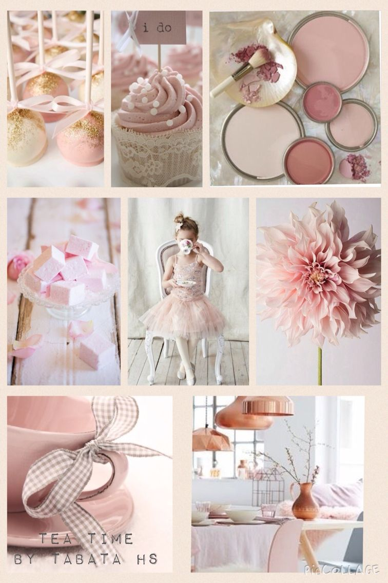 Tea time in pink moodboard by Tabata home staging