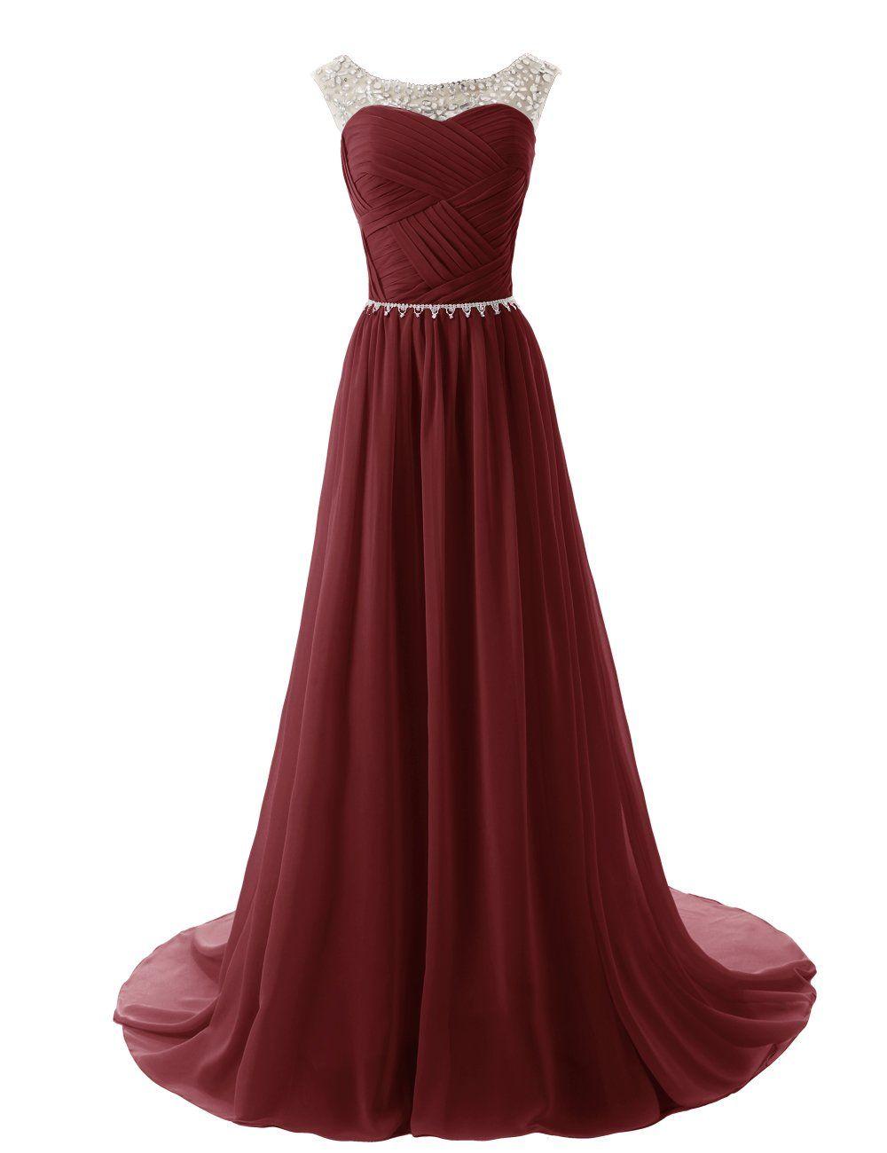 Dressystar chiffon dress long bridesmaid dress beading ball gown