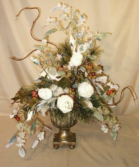 Silk Flowers For Elegant Centerpiece Wedding