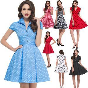 Pinup Cap Sleeve Swing Dress Retro Vintage 50\'s Style Cotton ...