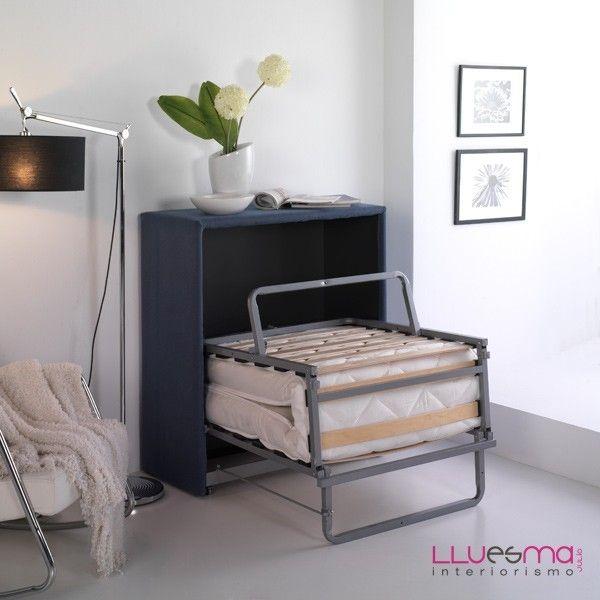 Mueble cama. Es Interiorismo | Muebles cama, Cama plegable y ...