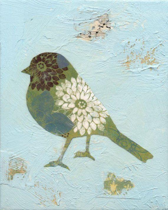 Song Bird No.1. // from Jennifer Z. Roszell Art & Design.