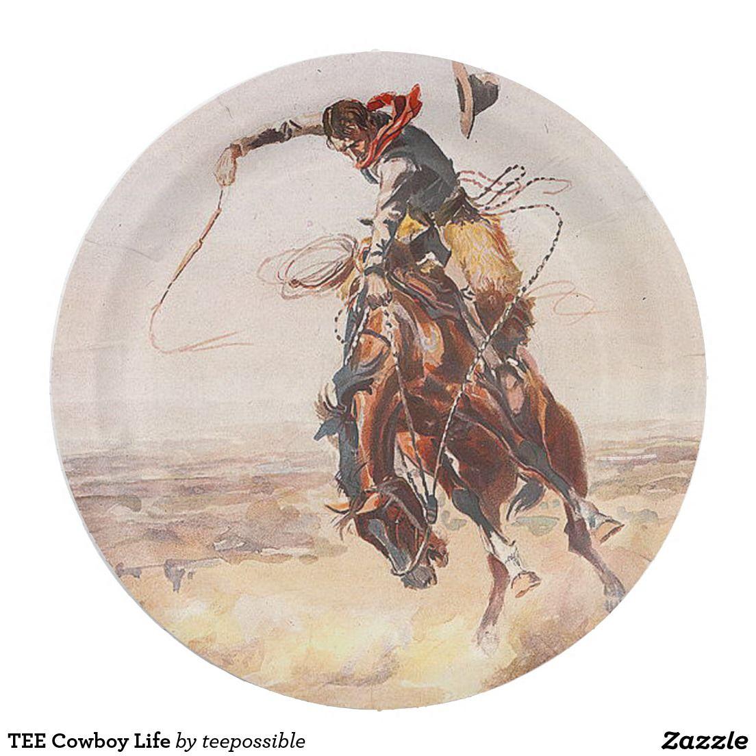 TEE Cowboy Life Paper Plate  sc 1 st  Pinterest & TEE Cowboy Life Paper Plate | Cowboys