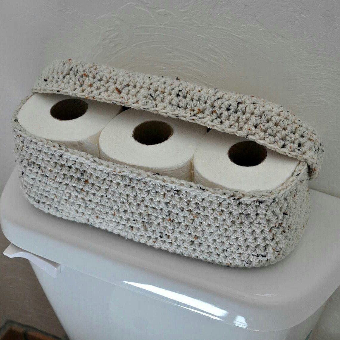 Another Way To Organize And Tidy Up The Bathroom Crochet Home Decor Crochet Home Crochet Bag
