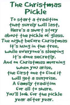 photo relating to Christmas Pickle Story Printable identified as Xmas pickle poem Xmas Xmas pickle