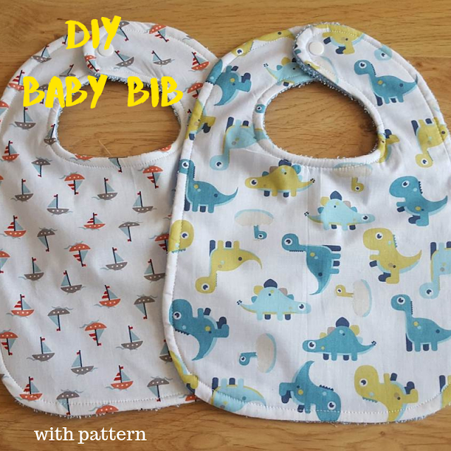 Keeping it Real: DIY large towel backed baby bib - with pattern