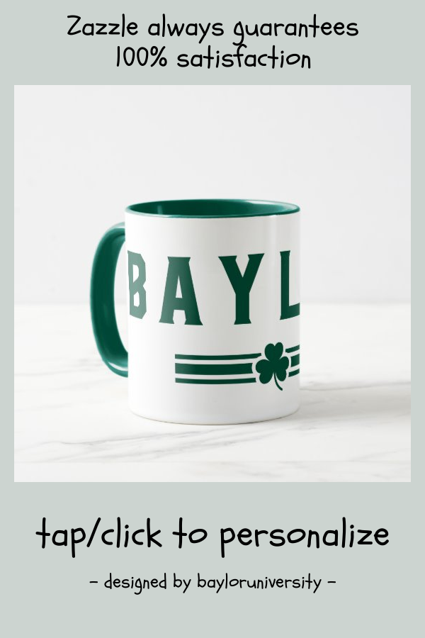 Baylor | St. Patrick's Day - Lucky Stripe Mug | Zazzle.com