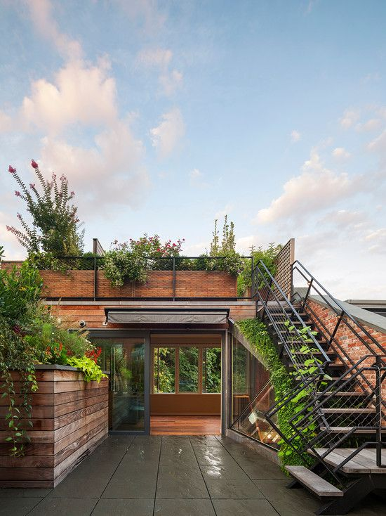 Amazing Rooftop Gardening Nyc Cable Railing Stairs Wooden