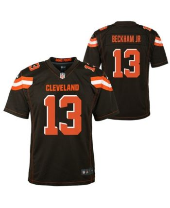 cheap for discount 04db2 33519 Nike Big Boys Odell Beckham Jr. Cleveland Browns Game Jersey ...