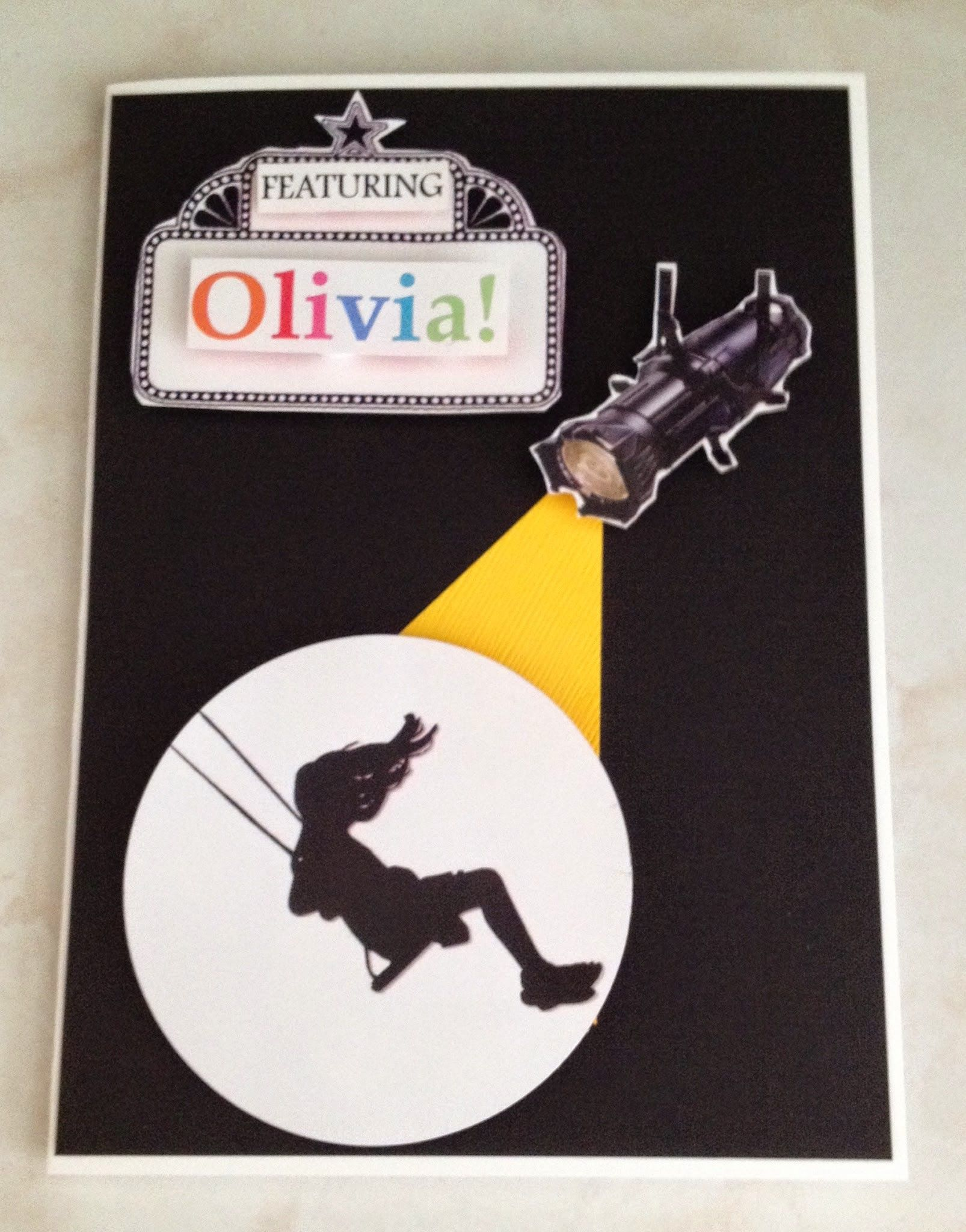 Broadway Birthday Card For The Little Music Theatre Lover