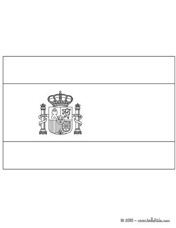 Spain Flag Flag Of Spain Coloring Page Is The Most Beautiful