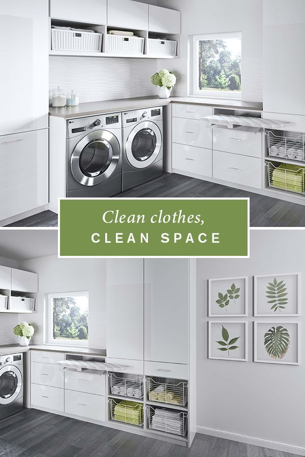 With Plenty Of Sleek Cabinet Space A Laundry Room Becomes Both Serene And Efficient Laundry Room Design Laundry Room Ideas Small Space Laundry Room Makeover