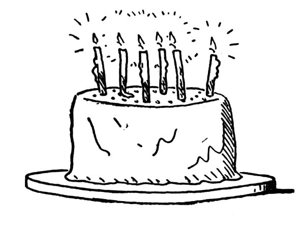 Delicious Birthday Cake Coloring Pages NetArt
