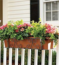 maceteros colgantes caja de la ventana plantador jardineras plantadores de cubierta jardineras colgantes ideas yarda delantera