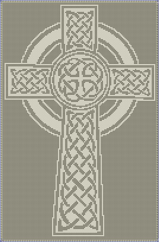 Celtic Cross Filet Crochet Pattern | Kreuzstich, Nadelbinden und ...