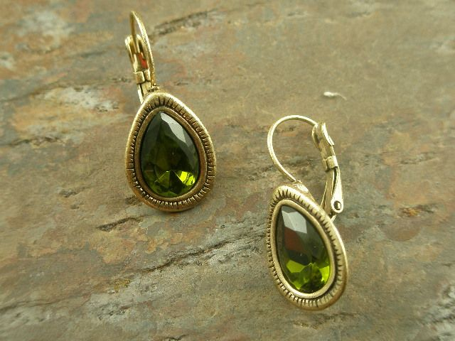 Simple and classic dark green earrings $24 at adornedbylonnie.com
