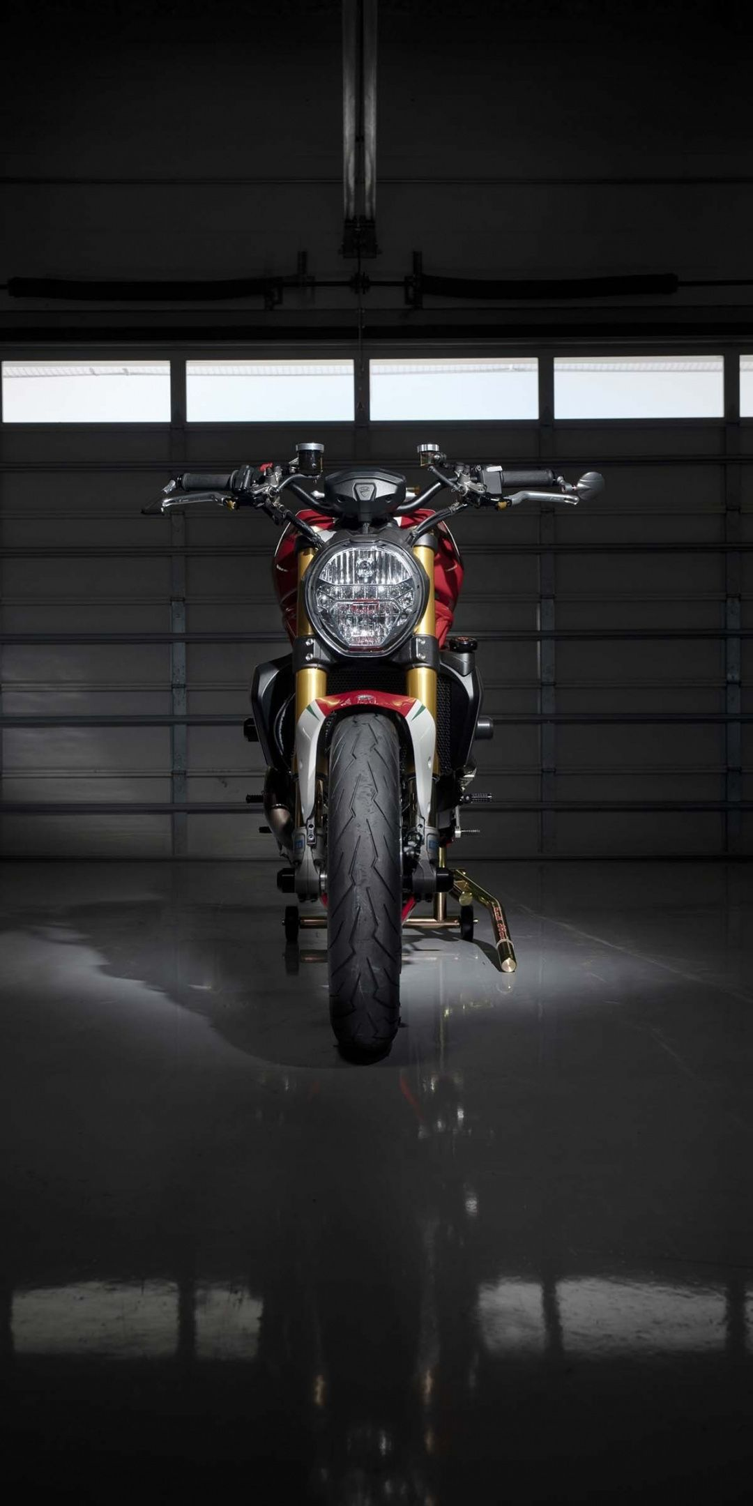 Ducati Monster 1200 Tricolore 2019 Basement 1080x2160 Wallpaper Ducati Monster Ducati Monster 1200 Ducati