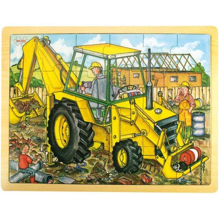 Bigjigs Toys 24-Piece Tray Puzzle, Digger | Products | Toys