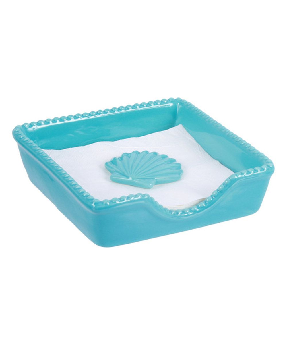Look at this Blue Ceramic Napkin Holder & Weight on #zulily today ...