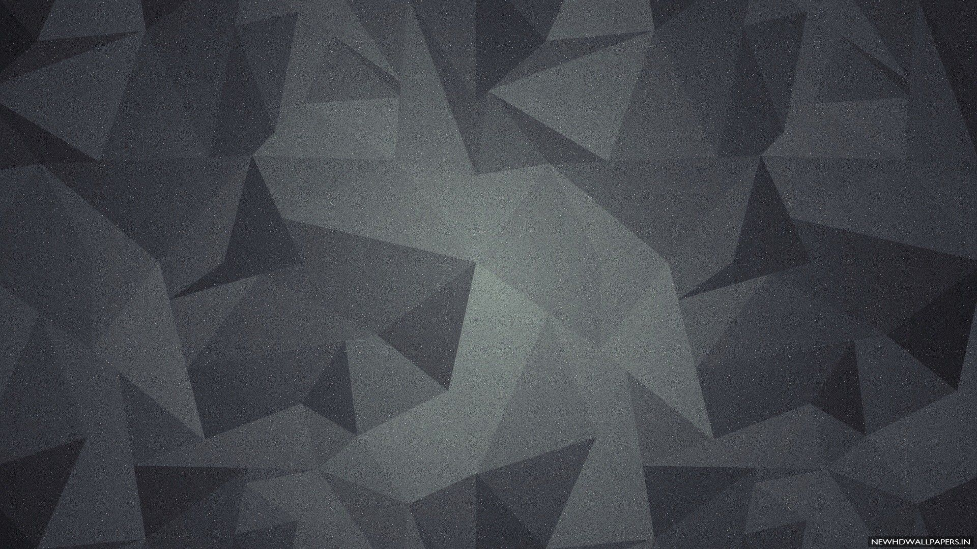 3D geometric abstract shapes dark background ...