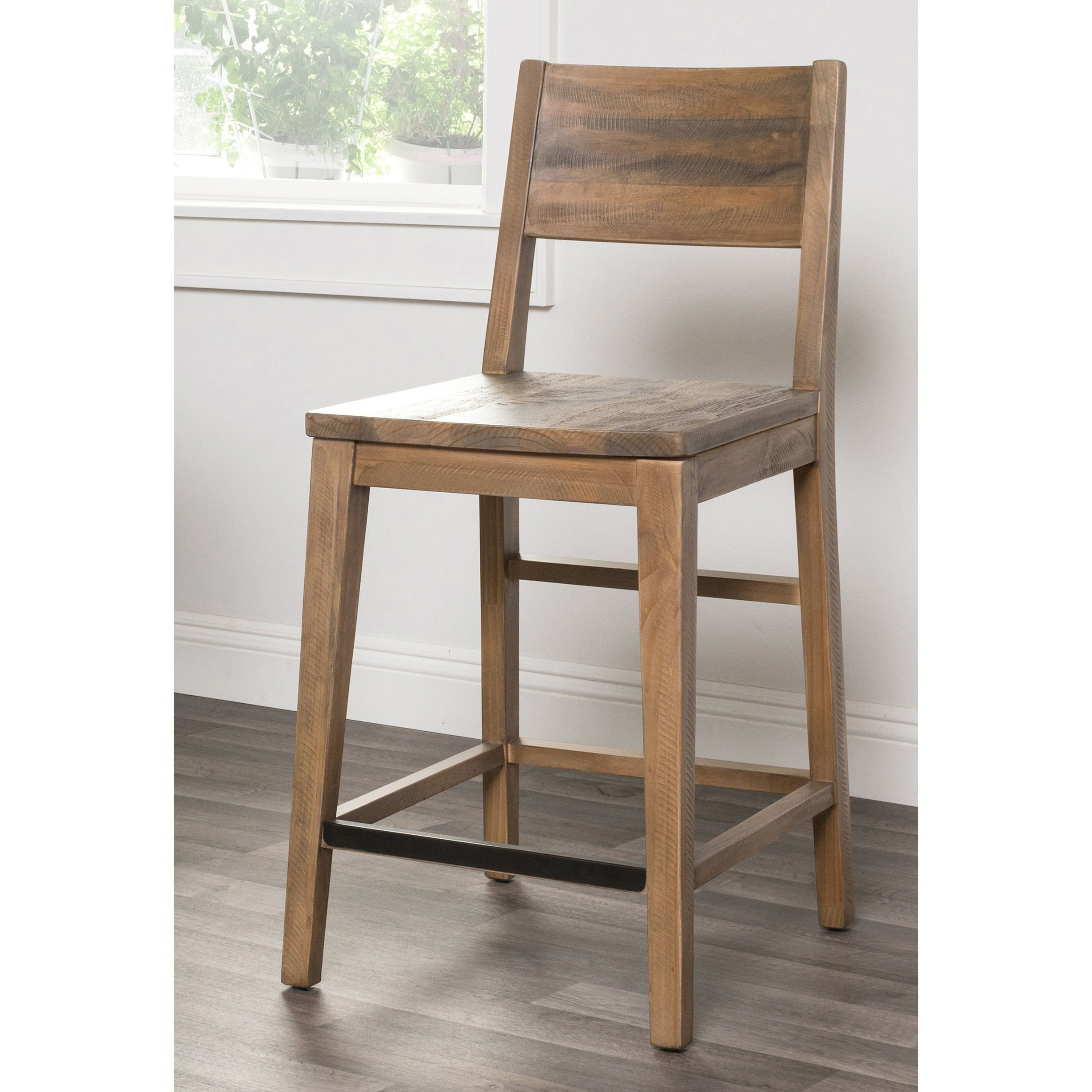Fine Oscar Natural Reclaimed Wood 24 Inch Counter Stool By Kosas Beatyapartments Chair Design Images Beatyapartmentscom