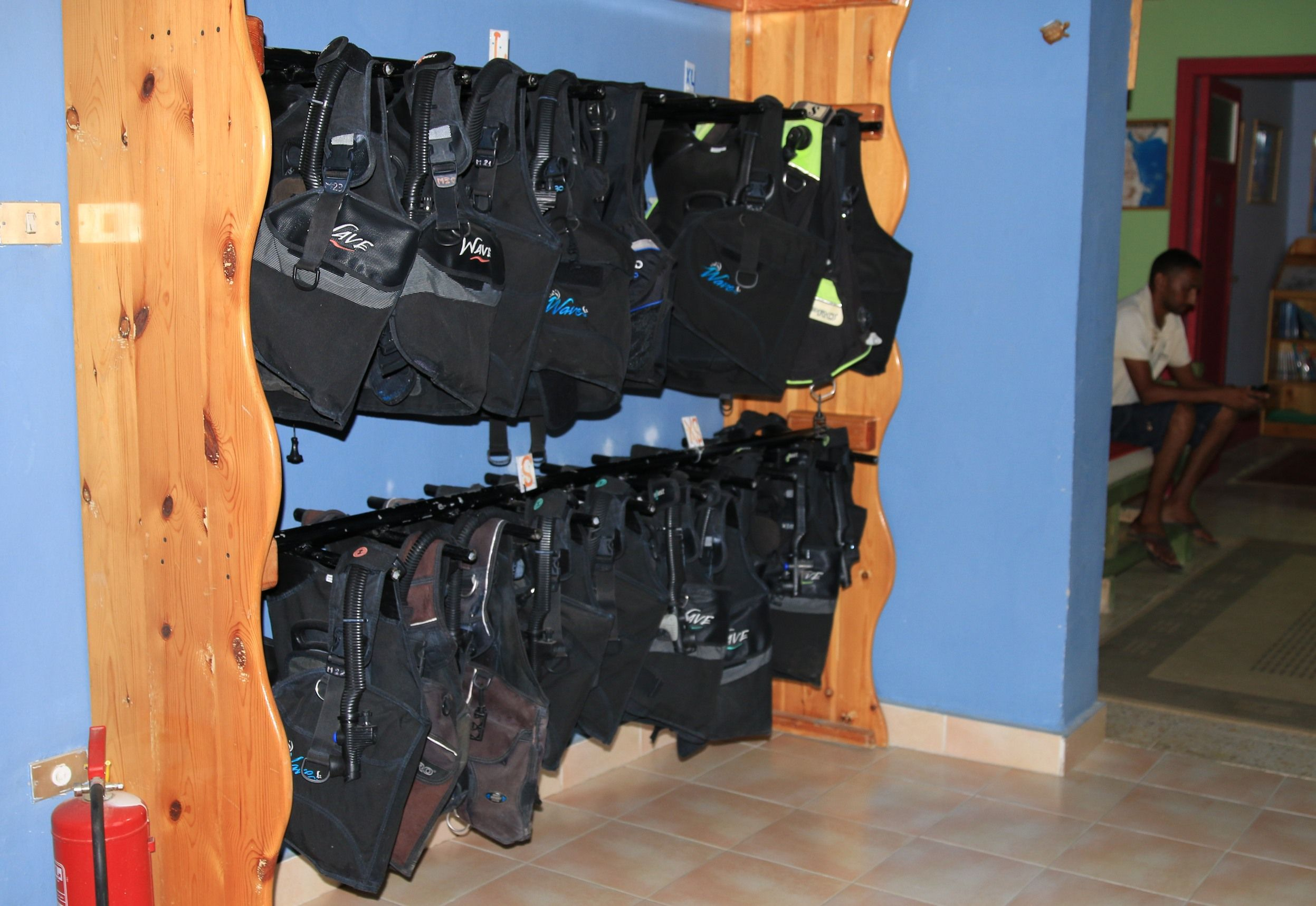All those BC are waiting for your next dives. (c) Martine Carret  / www.3turtles-red-sea.com