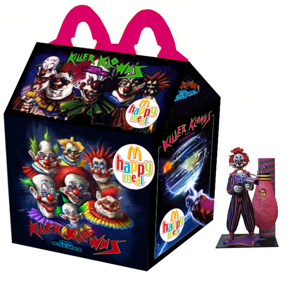 """killer klowns from outer space"""" happy meal 