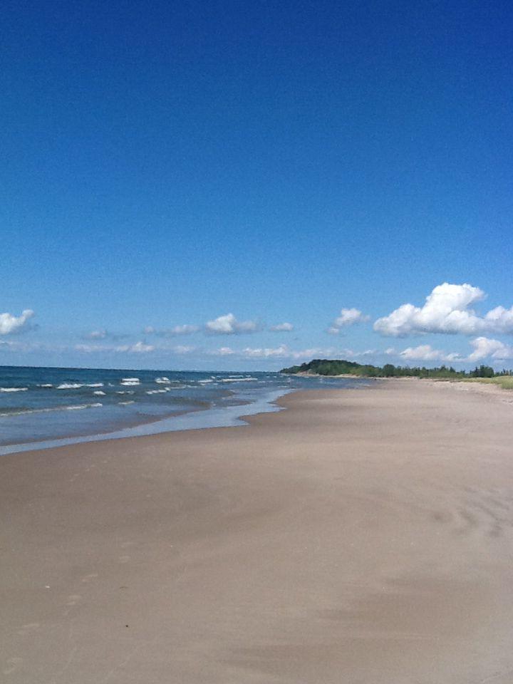 Lake Ontario Beach Near Sandy Pond.