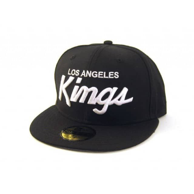 4f55ac8a0fe28 this nwa straight outta compton los angeles kings new era fitted hat  features an all black