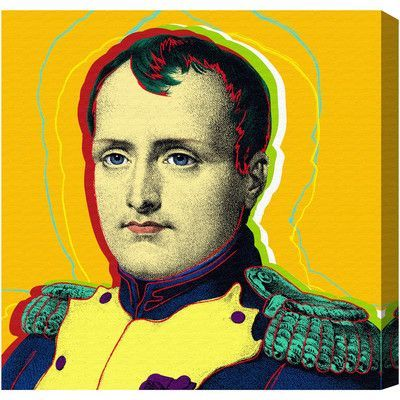 "Mercury Row Napoleon Graphic Art on Wrapped Canvas Size: 16"" H x 16"" W x 1.5"" D"