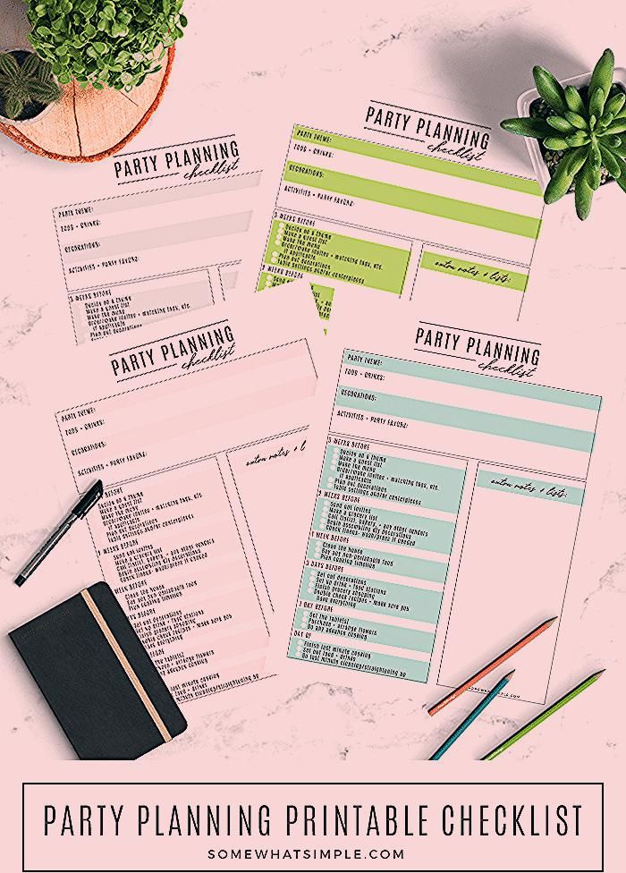 Photo of Party Planning Checklist – Free Printable Party Planner – Somewhat Simple