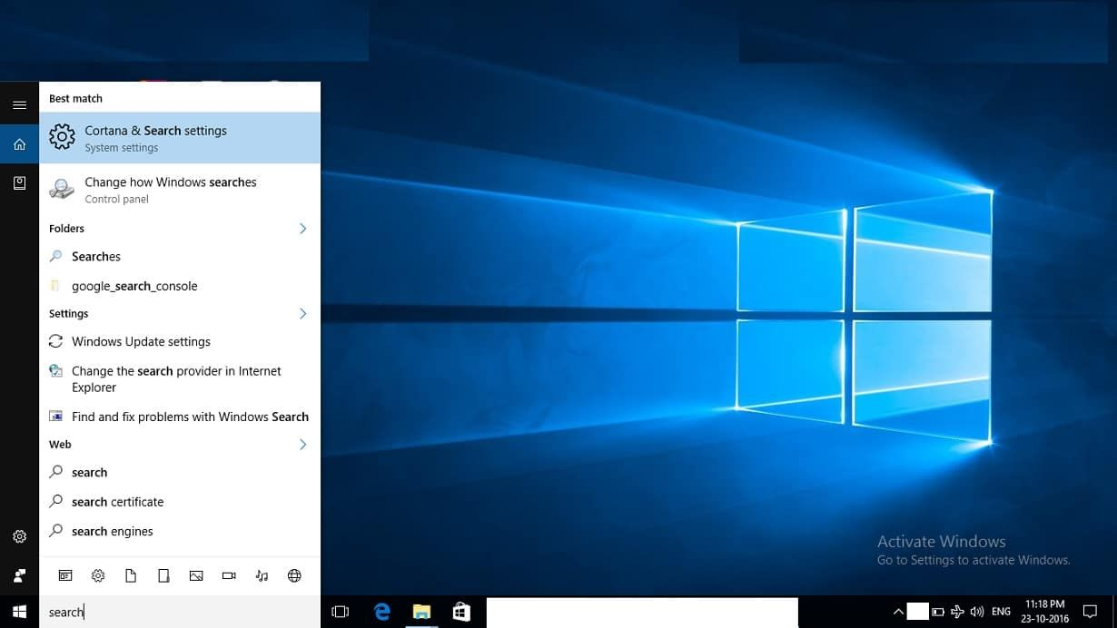 Here is the fix on search not working in windows 10 from