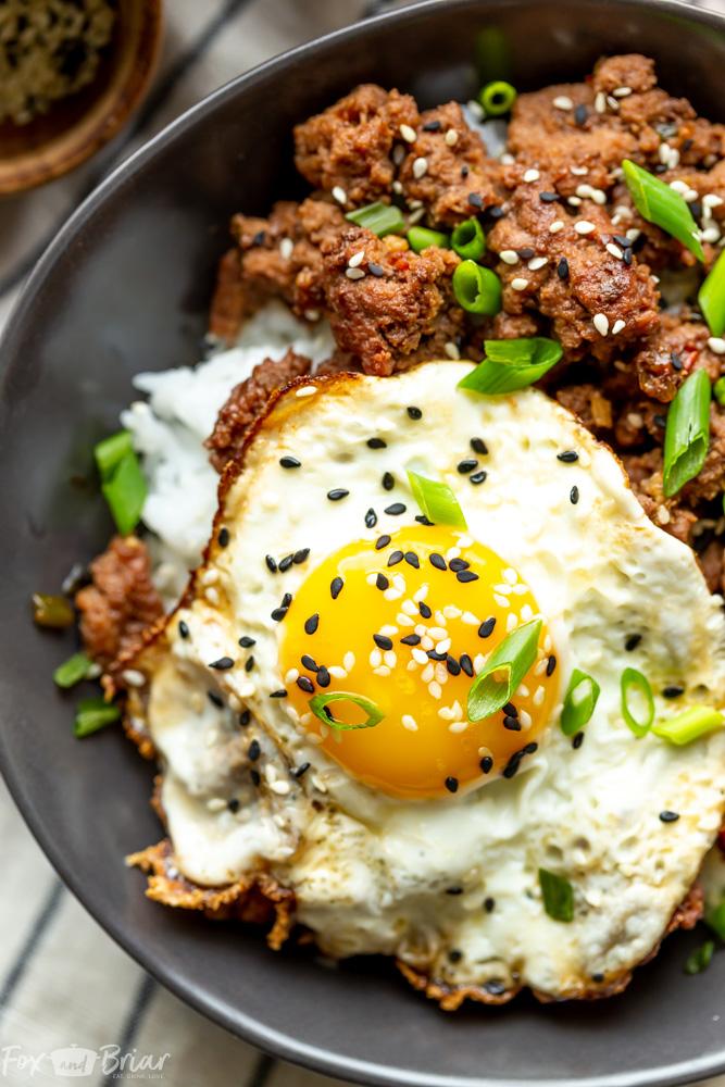 Korean Ground Beef Bowls Recipe Korean Ground Beef Healthy Ground Beef Beef Recipes Easy Dinners
