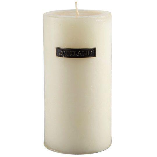 Ed Vanilla Mottled Pillar Candle By Ashland Decor Scents