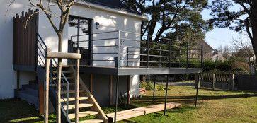Un avant apr s cr ation d 39 une terrasse sur piloti for Prix d une terrasse en bois sur pilotis