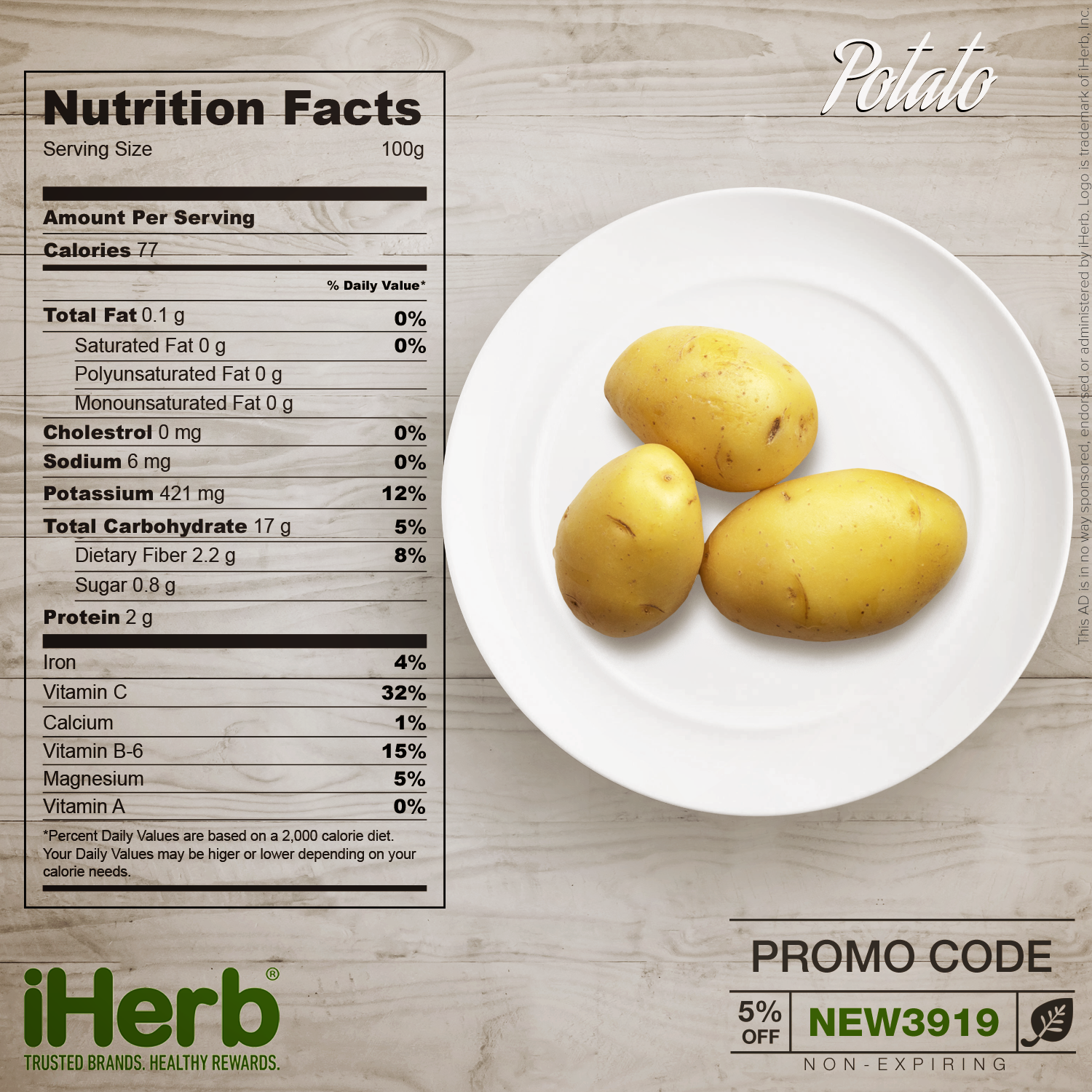 Potato Nutrition Facts Fill The Gaps In Your Nutrition Iherb Iherbcode Healthcare Bodybuilding Fi Potato Nutrition Facts Nutrition Good Healthy Snacks