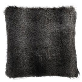 Heal's Long Grey Faux Fur Cushion