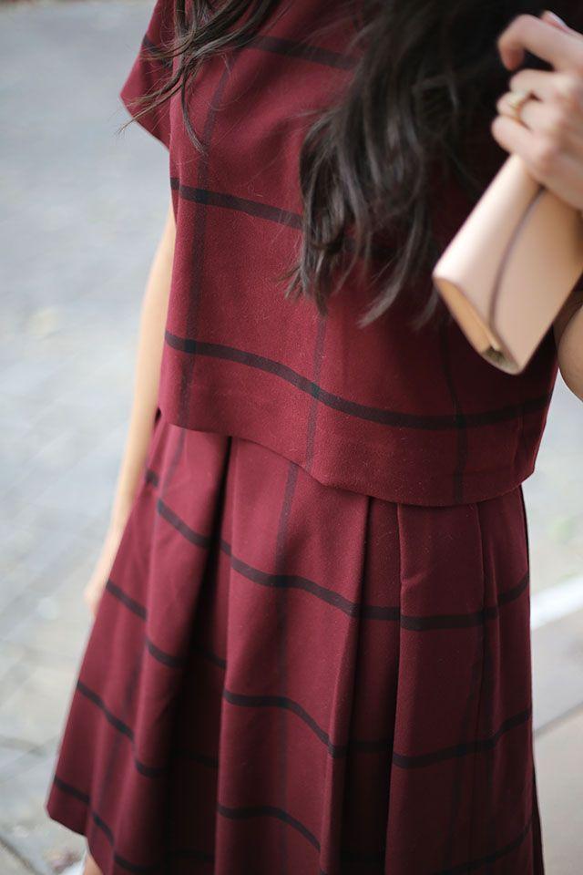 3 ways to wear burgundy