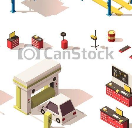 https://www.canstockphoto.fr/isométrique-ensemble-service-voiture-équipement-vecteur-44122863.html
