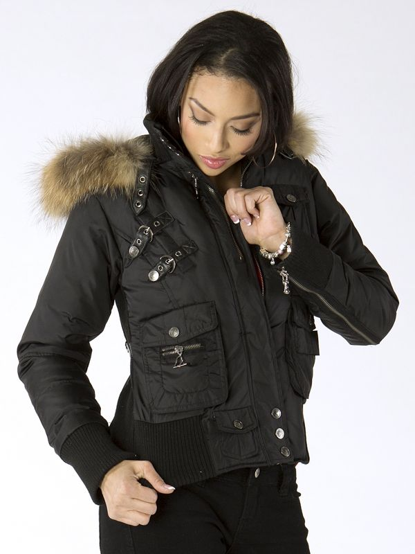 New Arrival Ladies Vixon by Pelle Pelle Collection Nylon Puff Bomber ...
