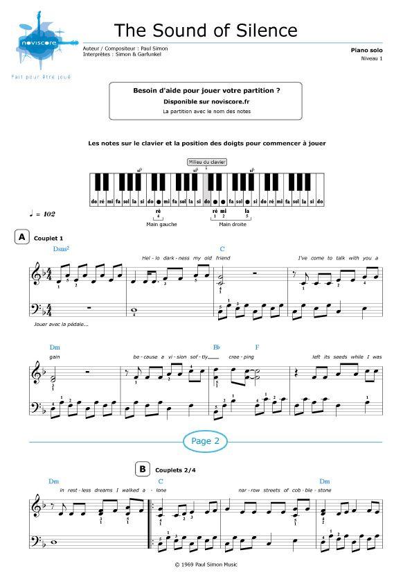 Partition piano gratuite tes ma femme tes la plus belle