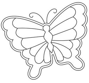 Based on tattoo flash style art, this butterfly design