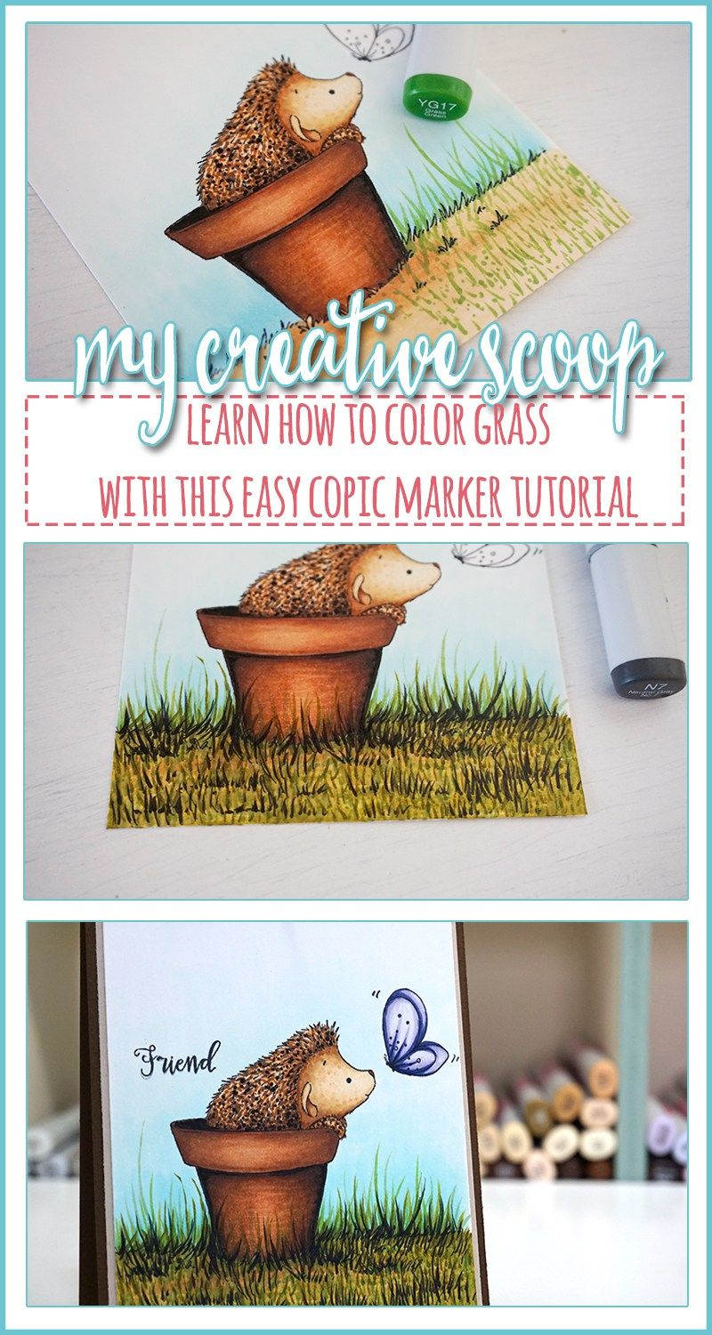How to Color Grass using Copic Markers - Step by Step Copic Tutorial