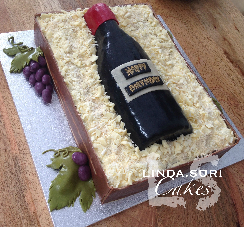 White Chocolate Marzipan Wine Bo E Cake With Marzipan G S  F F D  F F D B