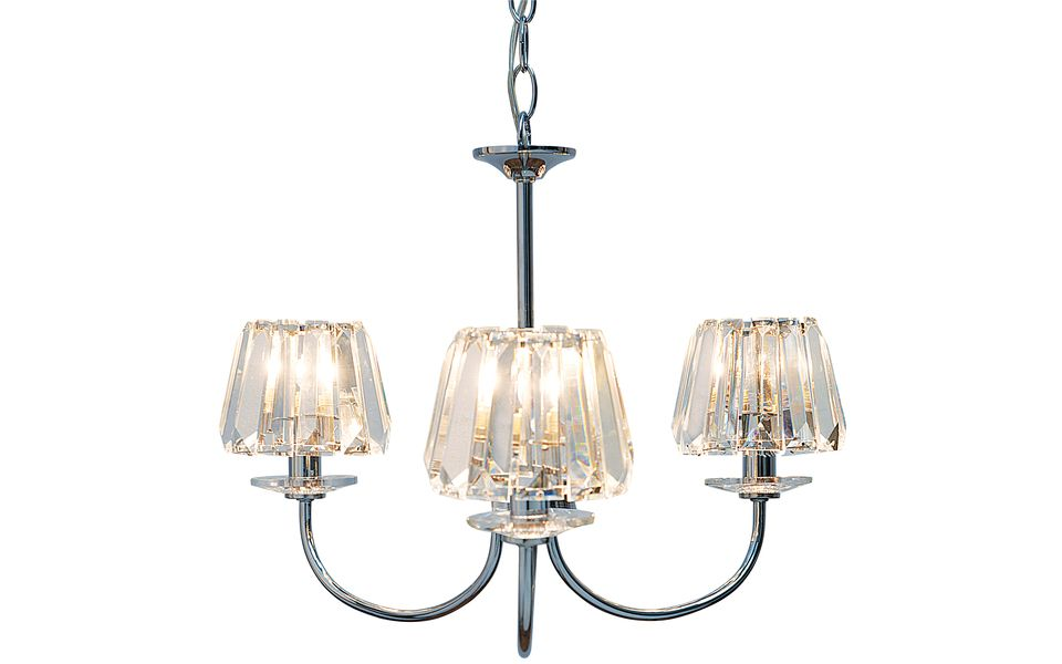 Capri 3 Light Chandelier with Glass Shades – Laura Ashley Chandeliers