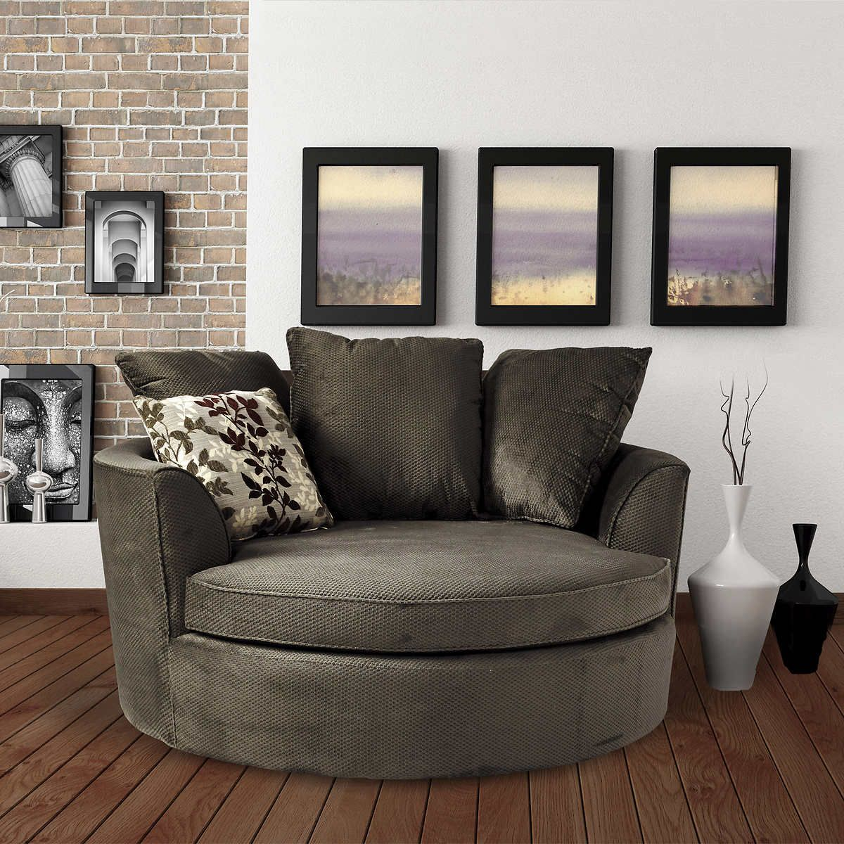 sofa cuddler finlay chair silver