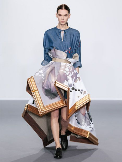 The Wearable Art Collection By Viktor Rolf Aw15 Dutch Fashion Designers Viktor Rolf Transformed Broken P Fashion Design Collection Fashion Design Fashion