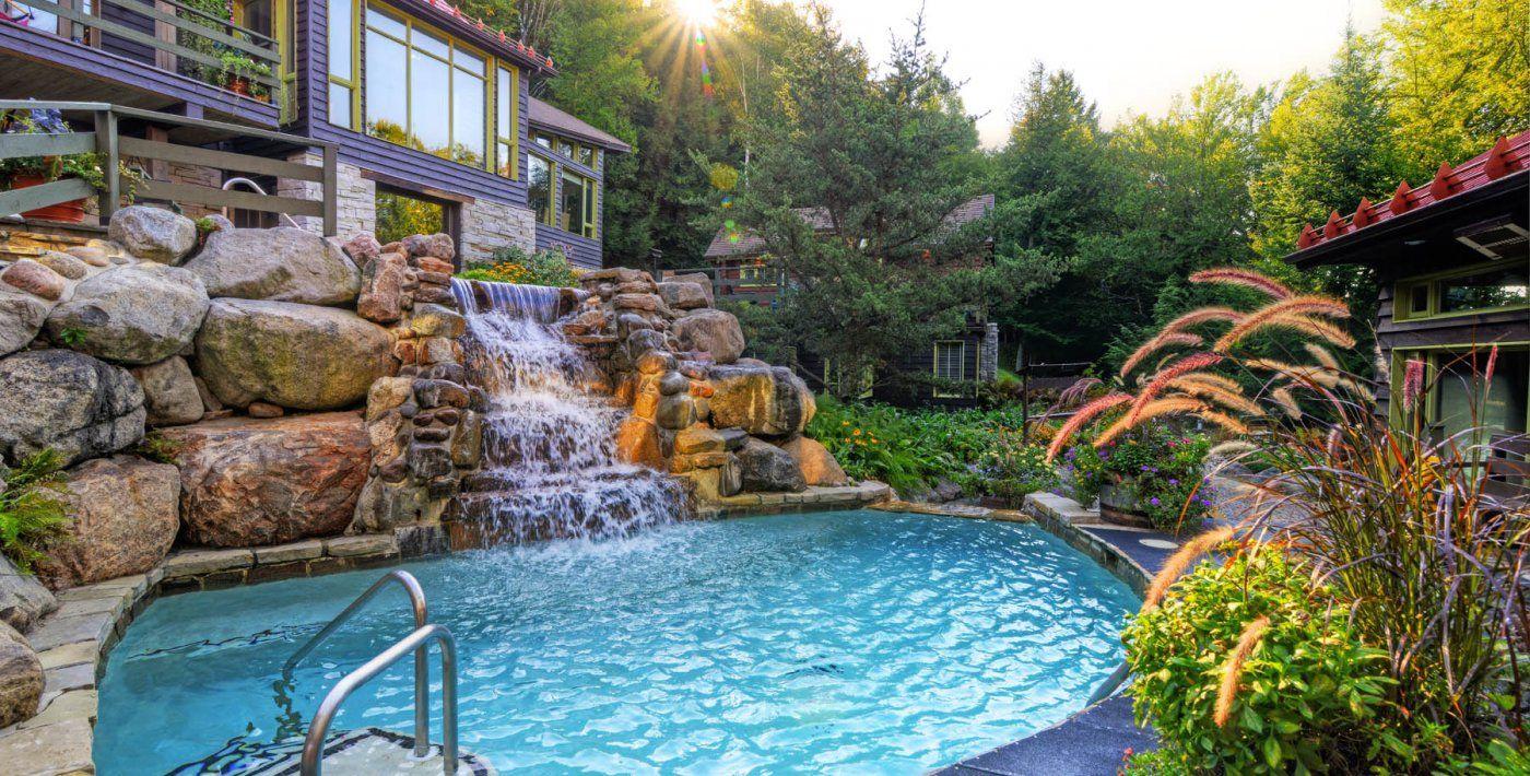 Nordic Day Spa Thermal Baths Massage More Scandinave Spa Scandinavian Baths Mont Tremblant Spa Pool