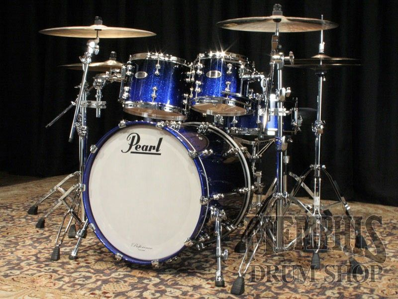 Pearl Reference Pure Drum Set 22 10 12 14 16 14 Ultra Blue Fade