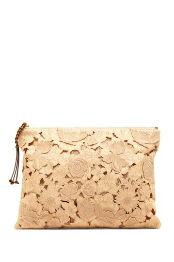 Valentino Raffia Embroidered Clutch by Designer Handbag & Accessory Shop on @HauteLook